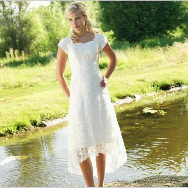 2015 vintage lace vestidos novia boho beach country for Boho country wedding dress