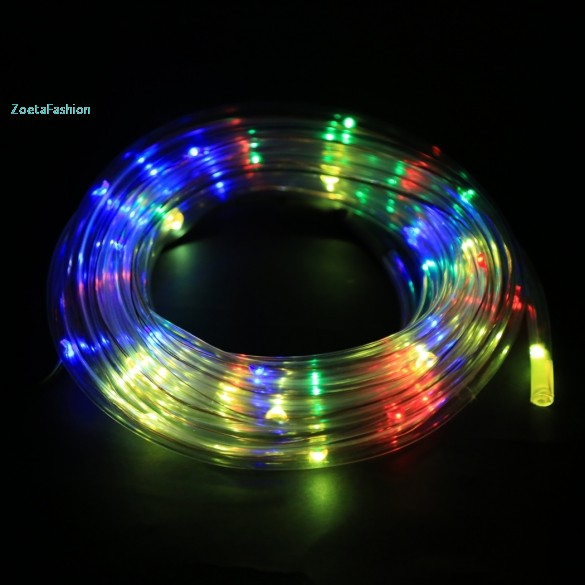 7m 50 solar led rope light multi color christmas party for Multi color led landscape lighting