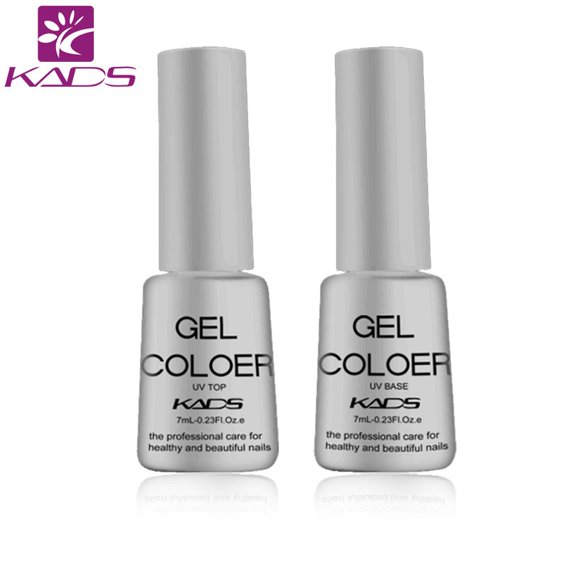 Гаджет  KADS 2PCS Nail Gel Top Coat Top it off + Base Coat Foundation for UV Gel Polish 7ml Long Lasting Nail Gel None Красота и здоровье