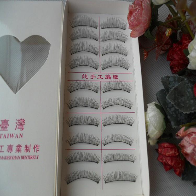 Moda Natural Cotton Stalk Cílios Postiços Grosso Longo Falso Cílios Ferramentas de Maquiagem Cílios Postiços Transporte da gota