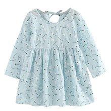 Летнее платье для девочек детское платье клетчатое платье с длинными рукавами для девочек мягкие хлопковые летние платья принцессы Одежда ...(China)