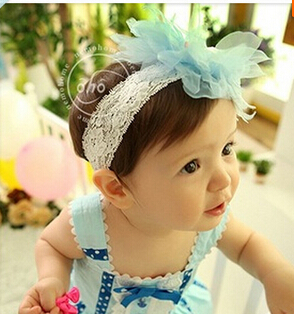 Top Sell Toddler Kid Headwear New Flower chiffon Baby Hairbands,Baby Hair Accessories Girls lace Headband Infant Hairband 56(China (Mainland))