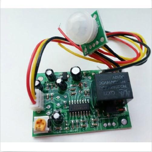 Human body induction 12V PIR IR Pyroelectric Infrared Module Adjust Relay Best(China (Mainland))