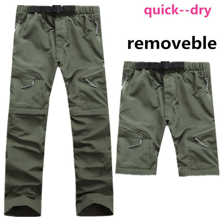 2016 Hiking Quick Drying Pants Waterproof Men Pants Camping Outdoors Leisure Breathable Trousers Removable Quick-Drying Pants(China (Mainland))