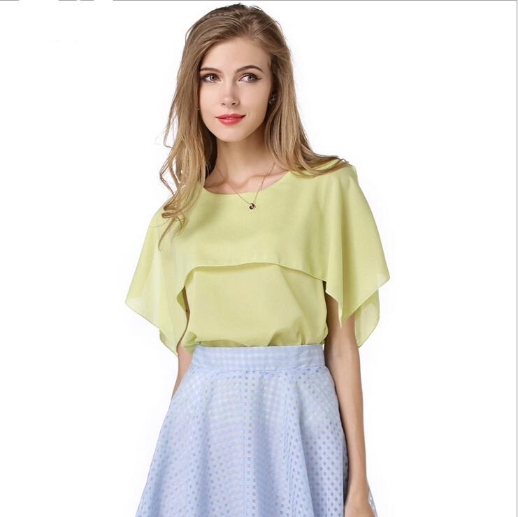 Buy new 2015 summer style women green for Boutique tops