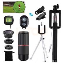 Buy 15in1 8x Telephoto Zoom Lenses Telescope Fisheye Macro Wide Angle lens mobile phone Lentes iPhone 7 6 5 4 s Xiaomi Redmi for $16.65 in AliExpress store