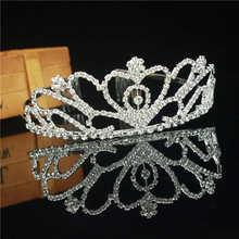 3 Designs magnifique argent cristal mariée diadème couronne mariée bandeaux femmes bal cheveux ornements mariage cheveux bijoux accessoires(China)