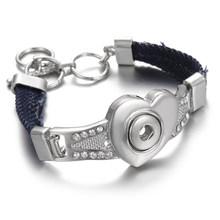 גבוהה באיכות הצמד תכשיטי 12mm הצמד כפתור צמיד לנשים גברים Fit הצמד מיני תכשיטי כפתור כסף כפתור צמיד צמיד(China)