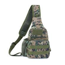 Tianhoo Kualitas Tinggi Olahraga Bag Leisure Shoulder Tas Tentara Taktis Kamuflase Tas Dada(China)