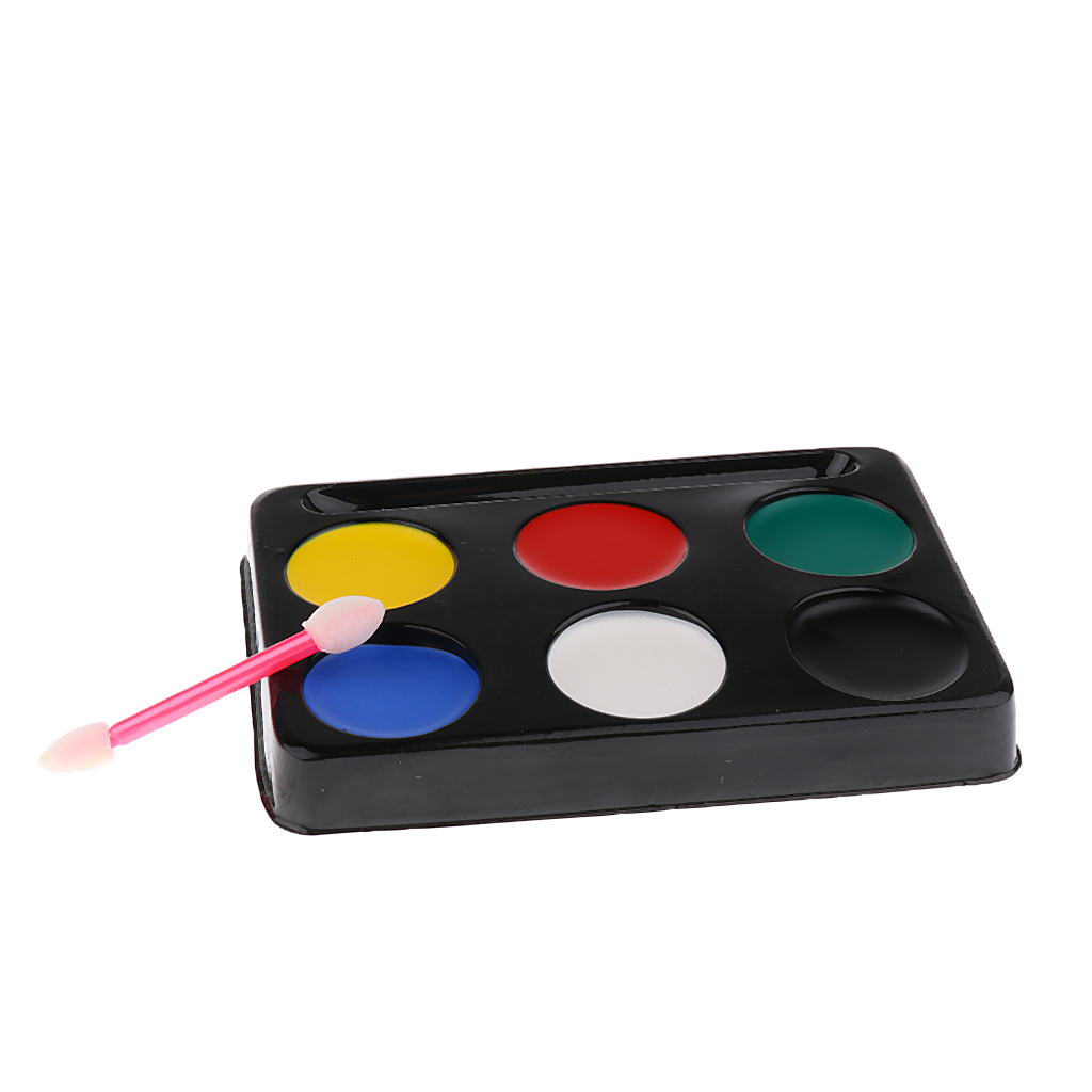 6 Colors Face Paint Palette for Fancy Dress Clown Theatrical Stage Make up Party Make Up Joker Makeup pigment