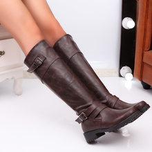 Fujin Hohe Stiefel Frauen Winter Spitz Dropshipping Mode Flachen Boden Wildleder Platz Heels Freizeit Zipper Kniehohe Stiefel(China)
