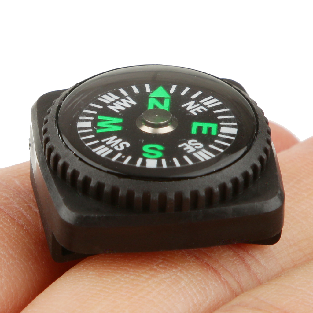 2x Black Mini Holster Watch Band Compass Paracord Bracelet Compass for Camping Travell Accessories