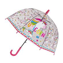 SHOWERSMILE Единорог детская длинная ручка прозрачный зонтик дети мультфильм обезьяна кран мальчики девочки милые Guarda Chuva(China)