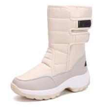 STQ 2019 kış kar botları kadın yarım çizmeler kadın süet deri sıcak peluş kadın çizmeler bayanlar su geçirmez düz ayakkabı 1618(China)