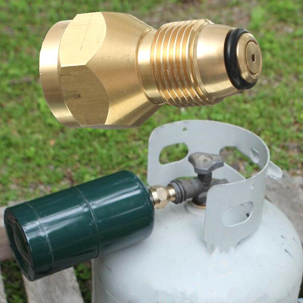 US Navy Veteran Propane Refill Adapter Tank Coupler Lp Gas Cylinder All Brass