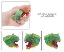 5 pçs/set Criativo Simulação Dinossauro Manga Dedo Anel Da Mão Mini Animal Dedos Boneca de Brinquedo Para As Crianças Adulto Prank Engraçado Gadgets(China)