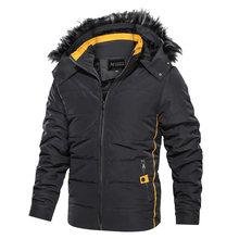 2019 Hot Fashion Hooded 冬コート男性厚く暖かいパーカーメンズ冬ジャケット防風父のギフトパーカ黒オーバーコート(China)