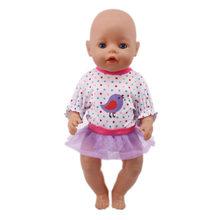 Ropa de muñeca 15 estilos camiseta + falda/pantalones vestido de unicornio apto 18 pulgadas americano y 43 Cm muñeca bebé generación juguete de niña de Navidad(China)