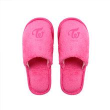 Mới Kpop Mười Bảy Hai Lần Mềm Mùa Đông Giày Làm Dày Ấm Bông Cặp Đôi Giày Nhà Nữ Mặc X(China)