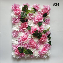 Домашний декор Шелковая Роза стена искусственный цветок для свадебного украшения Цветочная стена Романтическая свадьба фон Декор(Китай)