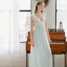 Летняя одежда для сна 2020, винтажная белая хлопковая ночная рубашка размера плюс, Женская домашняя одежда, ночное платье для свадьбы, ночное ...(China)