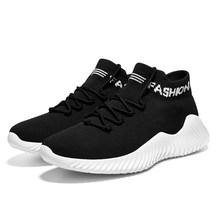 Damyuan 2019 Yeni Moda Erkekler Rahat Yumuşak Elastik Yüksek Çorap Sneakers Nefes spor ayakkabılar Zapatos De Hombre Artı 46 VIP Bağlantı(China)