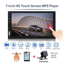 """HD 7 """"Автомагнитола 2 din Автомобильная магнитола с сенсорным экраном аудио Bluetooth Камера заднего вида MP3 MP5 мультимедийный плеер(China)"""