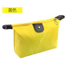 2019 새로운 방수 화장품 가방 여성 단색 메이크업 가방 캐주얼 연필 케이스 세면 용품 보관 가방(China)