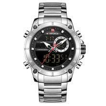 NAVIFORCE Top marque hommes montres de mode d'affaires montre à Quartz hommes militaire chronographe montre-bracelet horloge Relogio Masculino 9163(China)