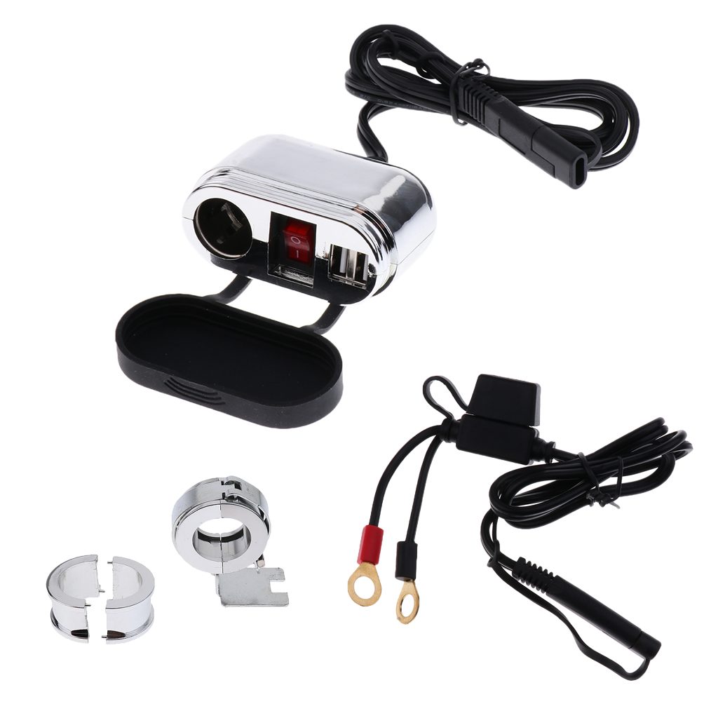 USB Motorcycle Waterproof Power Supply Port Socket Charger for Phone 12V Mobile Device