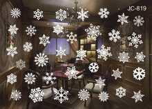 Nowy rok szyba okienna naklejka ścienna z pvc boże narodzenie DIY miasto pokryte śniegiem naklejki ścienne Home naklejka świąteczne dekoracje na artykuły domowe(China)