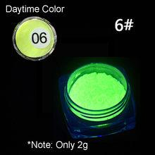 1 Box Neon Phosphor Powder Nail Glitter Powder 10 Colors Dust Luminous Pigment Fluorescent Powder Nail Glitters Glow in the Dark(China)