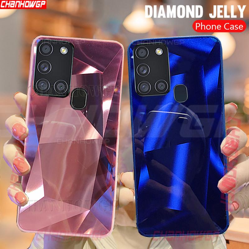 Funda Con Espejo De Diamante Para Samsung Galaxy A21S