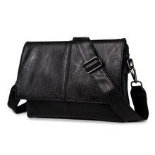 Maletín de marca para hombre, bolso de viaje de cuero PU, bolso de negocios Simple, bolso de hombro para hombre, bolso de hombro para ordenador portátil(China)