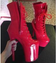 LAIJIANJINXIA nữ Thời Trang Mới 15 cm/17 cm/20 cm Giày Cao Gót Cực Giày Khiêu Vũ Đêm cương Lĩnh Đảng Mắt Cá Chân Giày Nhảy Múa Giày(China)