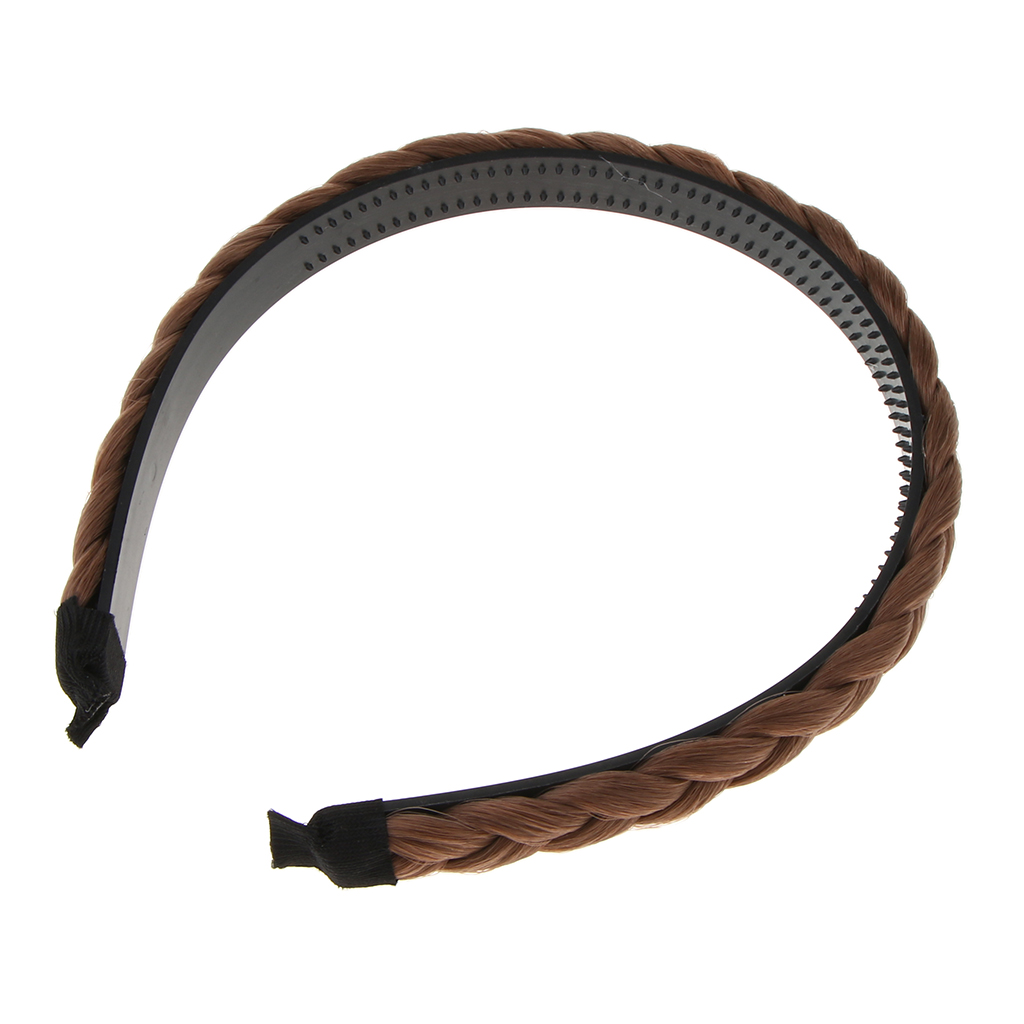 Chunky Synthetic Hair Braided Headband Classic Braids Hairpiece Women Beauty accessories
