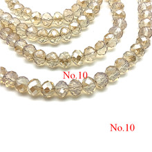 4mm/ 6mm/8mm Crystal Rondel Beads Wheel Faceted Glass Beads for Jewelry Making Diy Jewelry Accessories Jewelry Findings(China)