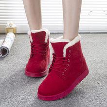 รองเท้าผู้หญิงฤดูหนาว Warm Snow รองเท้าบูทผู้หญิง Faux Suede รองเท้าสำหรับหญิงฤดูหนาวรองเท้า Botas Mujer Plush รอ...(China)