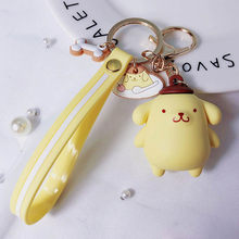 New bonito Olá kitty Chaveiros chaveiro Grande Da Orelha Do Cão Bonito Dos Desenhos Animados Pinguim Saco chaveiro Jóias chaveiro carro Pingente de porte clef(China)