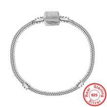 BIG SALE Buatan Tangan Perhiasan 925 Sterling Silver Pesona Gelang Bangle Lembut Halus Ular Tulang Gelang untuk Wanita Perhiasan(China)