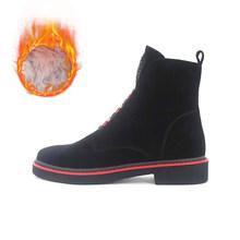 VAIR MUDO Winter Ankle Boot Frauen Echtes Leder Top Qualität Handmade Frühling Herbst Komfortable Quadrat niedrigen Ferse Dame Stiefel DX1(China)