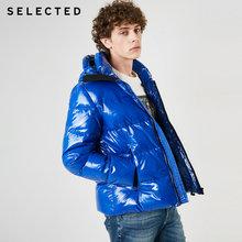 SELECTED 남성용 광택 쇼트 다운 재킷 New Hooded Parka Duck Down Coat 겨울 캐주얼 남성 의류 C | 419112507(China)