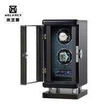 新到着 Uhrenbeweger 機械式時計のための自動ウォッチワインダーダブルボックスジュエリーウォッチ表示ボックス(China)