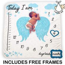 Детское одеяло для фотосессии, фон для фотосессии, тканевое одеяло с календарем для мальчиков и девочек, аксессуары для фото 100x100 см(China)