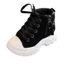 Kış çocuk botları çocuklar çocuklar için bebek kız erkek Patchwork Zip kısa çizmeler patik rahat ayakkabılar детская зимняя обувь(China)