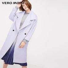Vero Moda Wanita Kerah DROP Bahu Dua Tombol Multi Warna Wol Mantel   318327533(China)