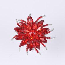 Weimanjingdian Indah Berbagai Macam Warna Kopi/Ungu/Merah/Bening/Hitam Kristal Daisy Bunga Bros Pin untuk Wanita(China)