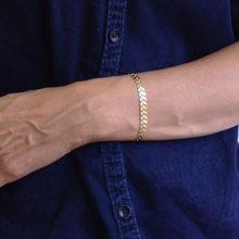 Nueva moda de plata de oro corazón de Color de forma geométrica de cristal de cadena ajustable encanto pulseras personalizadas para hombres joyería de las mujeres(China)