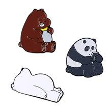 1Set Della Lega Variopinta Taiji Pesce Panda Bear Coniglio Volpe Maschera Scheletro Scultura Forma Dello Smalto Mini Spilla Gioelleria raffinata e alla moda del Regalo(China)