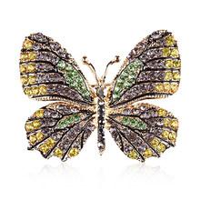 Xdpqq Populer Korea Fashion Warna-warni Alloy Plating Kupu-kupu Hewan Bros Bros Hadiah untuk Wanita(China)